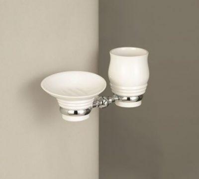 Edwards & Co Porcelain Soap Dish Tumbler & Holder