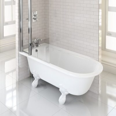 Burlington Hampton Showering 150cm Bath LH