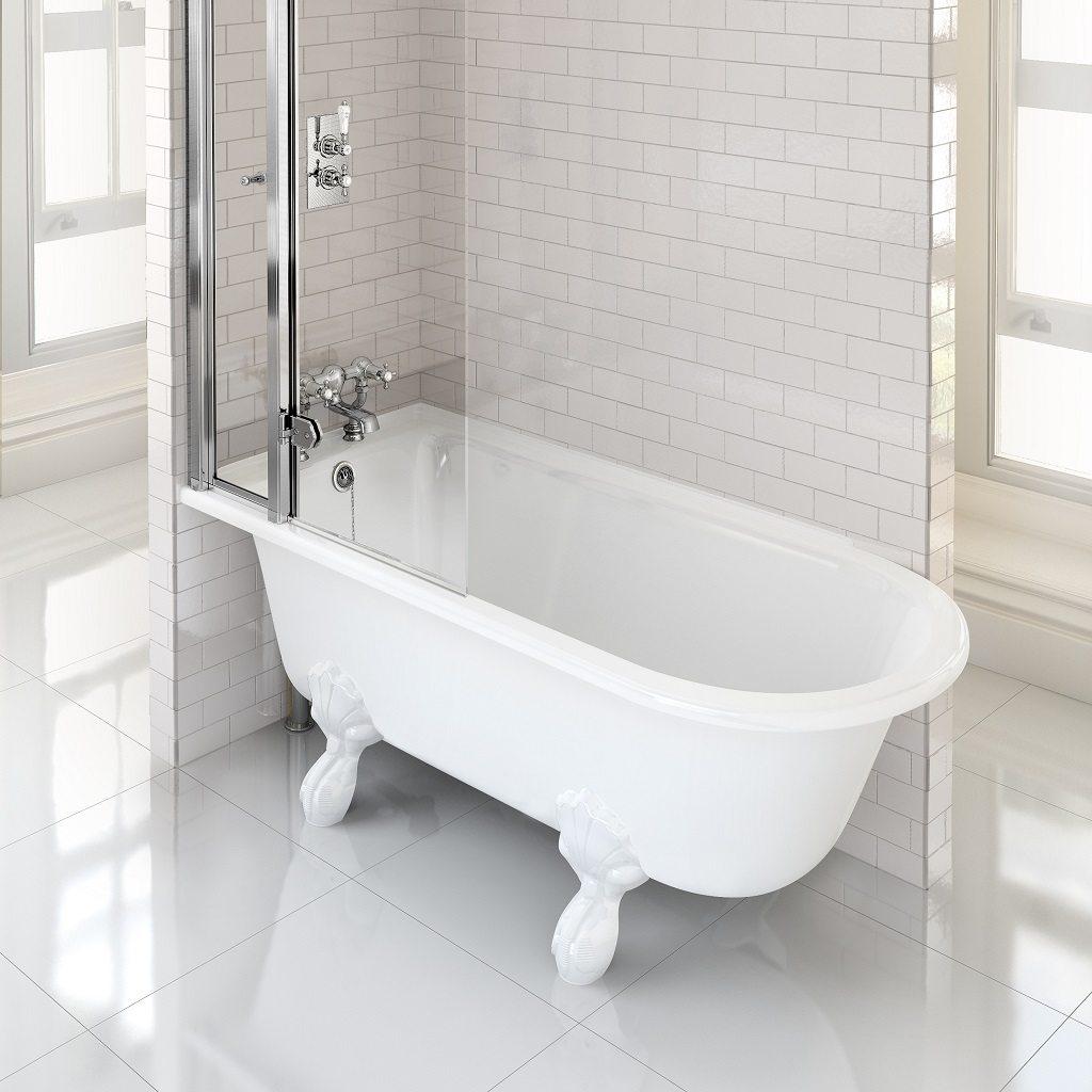 Burlington Hampton Showering 150cm Bath LH By Old