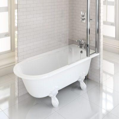Burlington Hampton Showering 150cm Bath RH