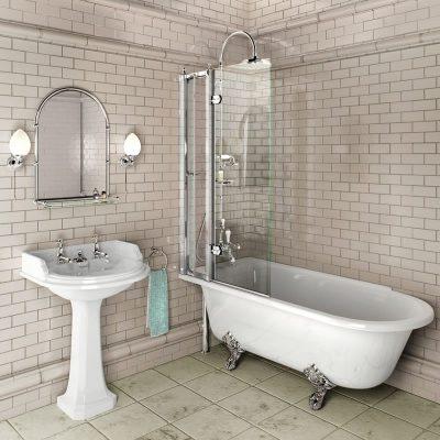 Burlington Hampton Showering 170cm Bath LH