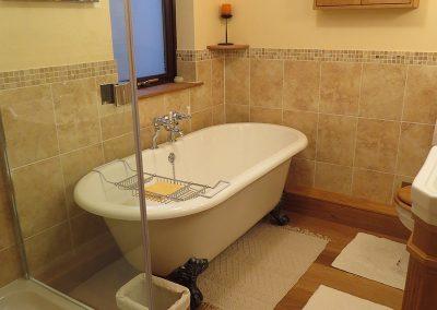 Fashionable Bathroom with Shower & Bath
