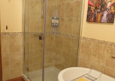 Modern Shower Room with Cast Iron Tub