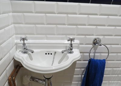 Small Traditional Sink with Towel Holder