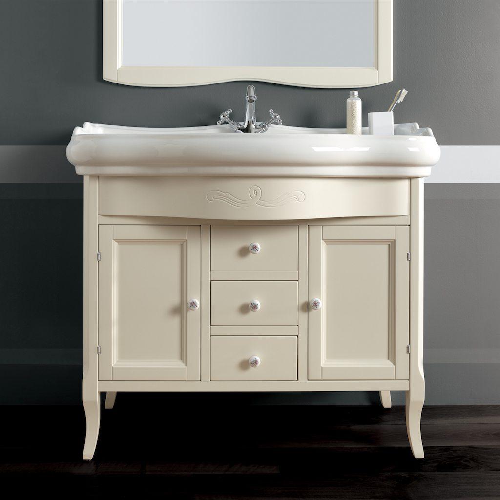 Retro 100cm Console Basin on Cabinet | Old Fashioned Bathrooms
