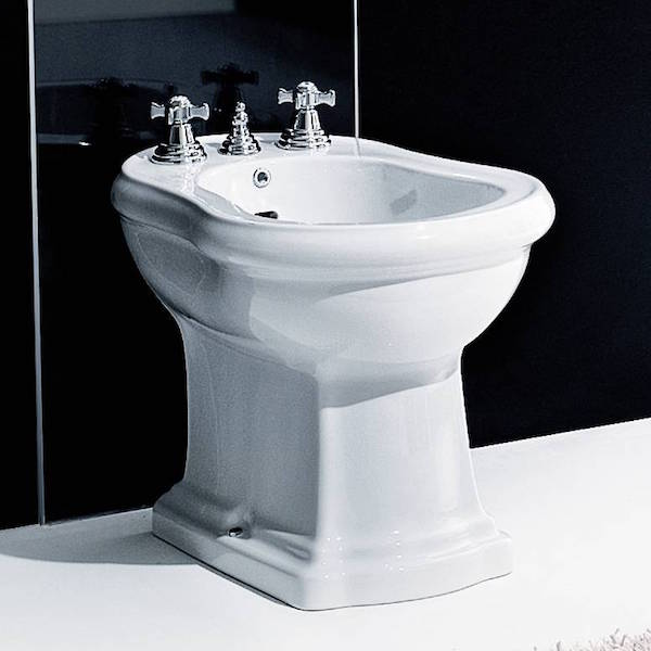 Continental Style Retro Bidet finished in Brilliant White | OFB