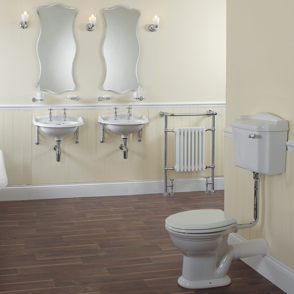 Traditional English low level toilet by Old Fashioned Bathrooms