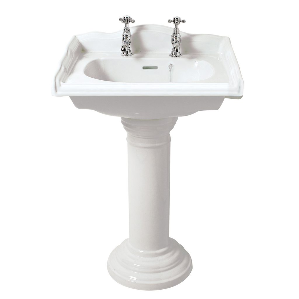 Home / Bathroom Suites / Traditional English Square Basin and Pedestal