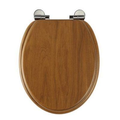 Roper Rhodes Traditional Oval Toilet Seat - Honey Oak