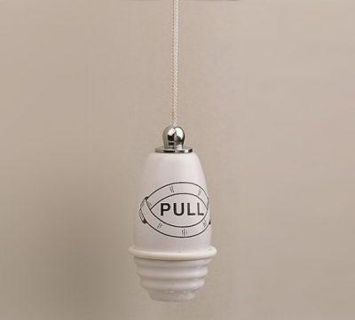 Ceramic Bathroom Light Pull