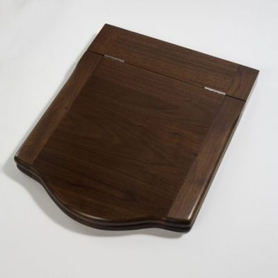 medium throne toilet seat walnut