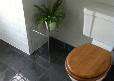 Toilet With Oak Toilet Seat