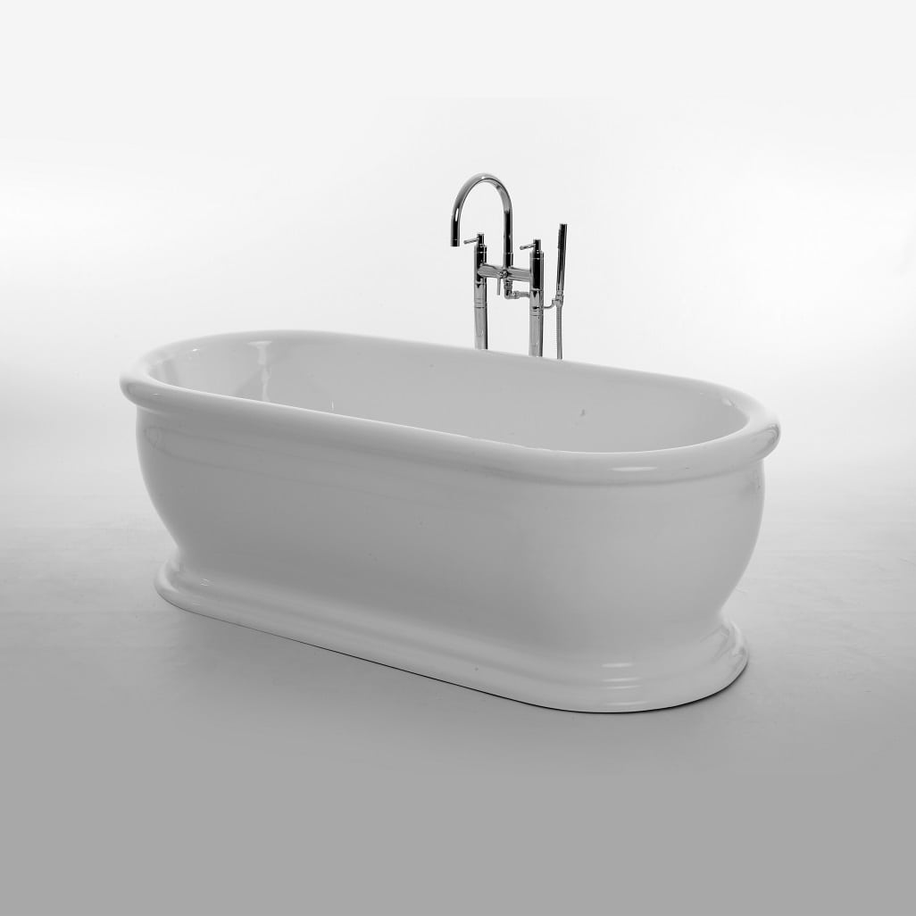 Acrylic Roll Top Bath with a stuning white finish | Old Fashioned ...