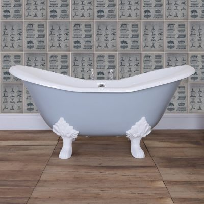 Banburgh Small Raised Double Ended Cast Iron Bath 1560mm