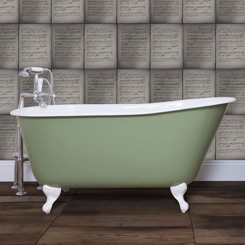 Traditional Cast Iron Deep Tub Bath