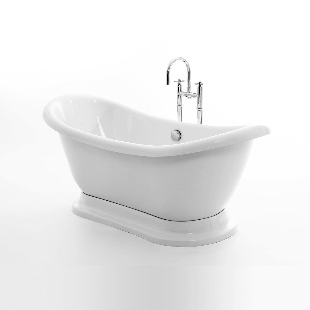 Plinth Roll Top Boat Bath Tub