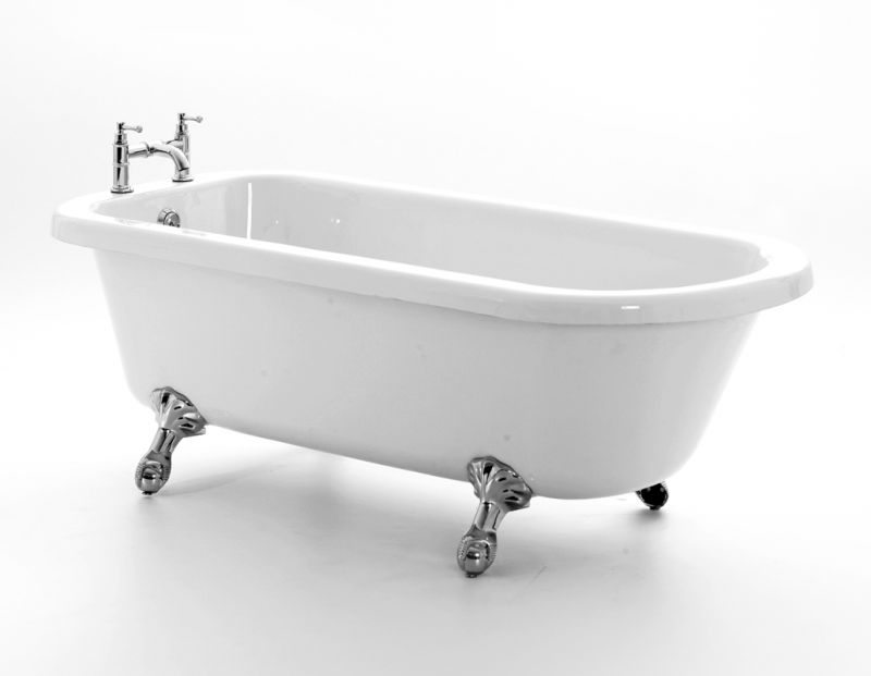 Classic Victorian Style Acrylic Roll Top Bath Tub