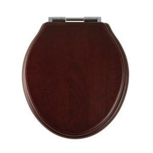 mahogany toilet seat