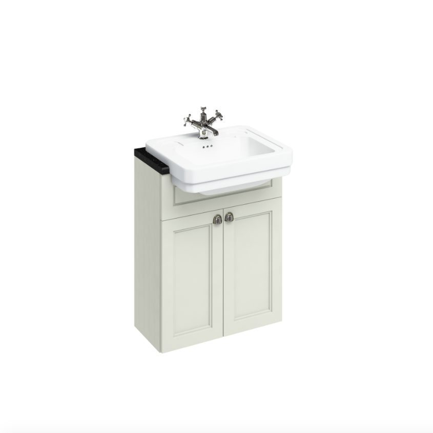 Amazing   Aqua Cabinets 600mm Vanity With Semirecessed Curve Basin  White