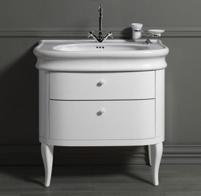 Old England Cambridge 90cm Basin and Cabinet White