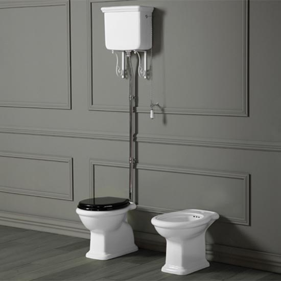 Old England Cambridge High Level Toilet Old Fashioned