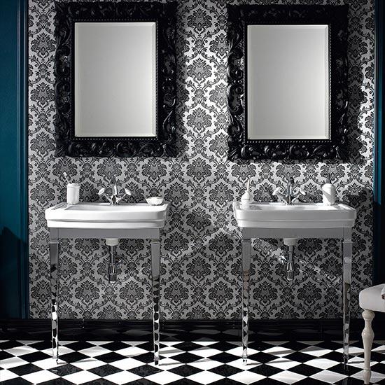 Neoclassica Art Deco Basin & Stand 58cm wide - Old Fashioned Bathrooms
