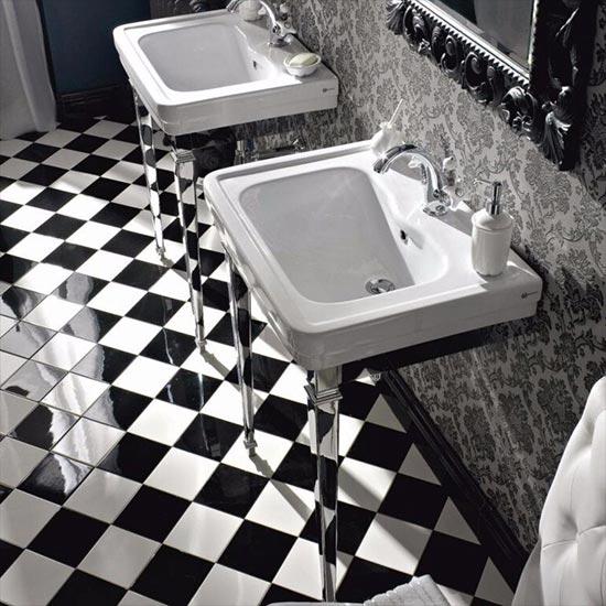 Neoclassica Art Deco Wash Basin & Stand - Old Fashioned Bathrooms