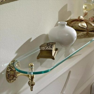 Wall Mounted Glass Shelf