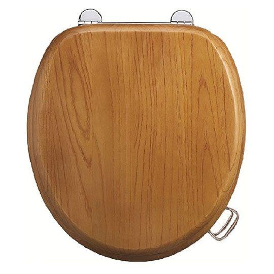 Burlington Wooden Oak Toilet Seat Old Fashioned Bathrooms