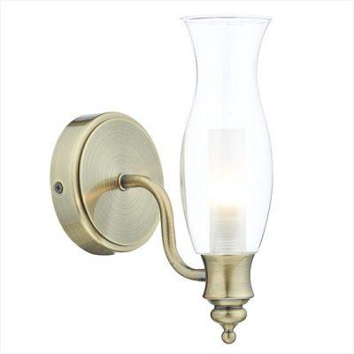 Vestry Wall Light Antique Brass