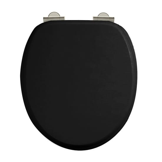 Burlington Soft Close Matt Black Toilet Seat 2 Year Warranty