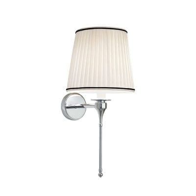 Pendant Light with Cambridge Pleated Cotton and Pinstripe