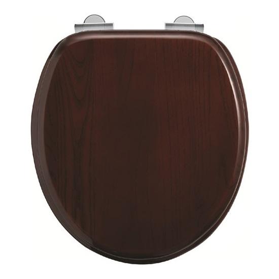 Burlington Soft Close Toilet Seat - Mahogany