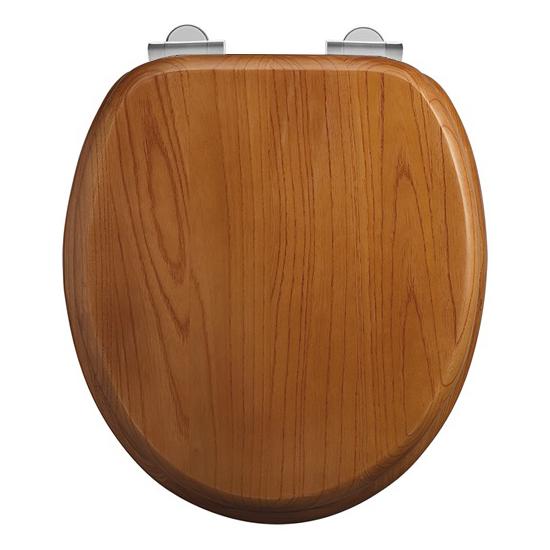 Burlington Soft Close Toilet Seat - Oak