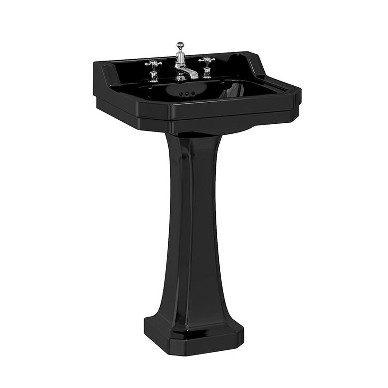 burlington-jet-black-edwardian-56cm-basin-with-standard-pedestal