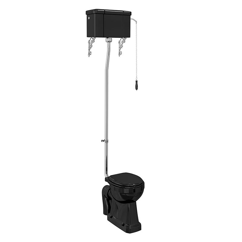 burlington-jet-black-standard-high-level-wc-with-single-flush-ceramic-cistern