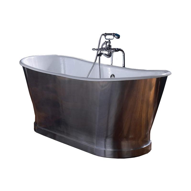 Imperial-Radison-Cast-Iron-Bath-in-Polished-Aluminium