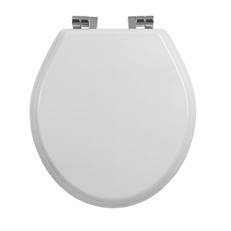 Oxford-White-Chrome-Toilet-Seat
