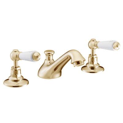 Gold-3-Hole-Basin-Mixer-Tap