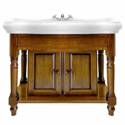 Foresters 100cm Period Basin & Oak Cabinet